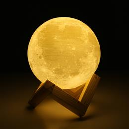 Creative Gift 3D Print Moon Lamp Bedroom Bookcase Rechargeable Night Light Home Decor