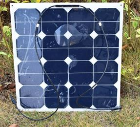 50w PV outdoor Solar Panel module solar cell speaker for sport travel marine yacht battery use